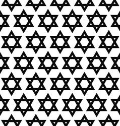 Seamless monochrome hexagram pattern vector image