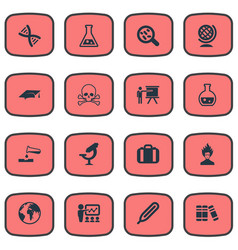 Set of simple study icons vector