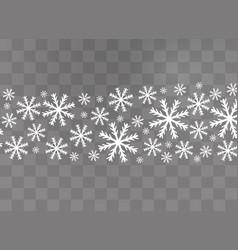 snowflakes snow winter vector image