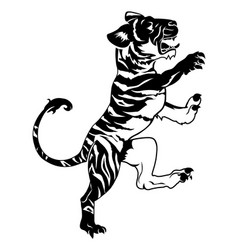 Stylised tiger vector