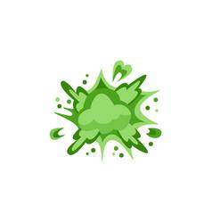 Toxic green explosion or burst effect cartoon vector