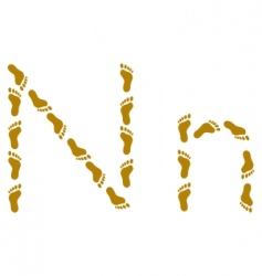 traces letter n vector image
