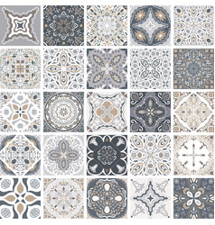 Traditional ornate portuguese decorative tiles vector
