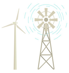 windmill renewable energy powerplant station icon vector image