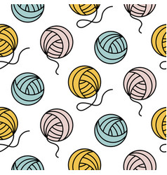 yarn ball pattern for girls prints vector image