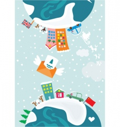 Christmas worlds vector image vector image