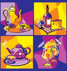 drink beverage bright vector image vector image