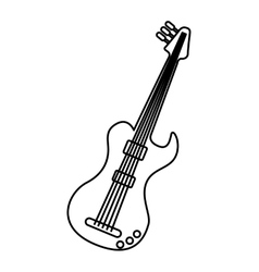 guitar electric isolated icon vector image vector image