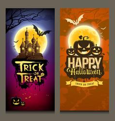 happy halloween collections banner vertical design vector image vector image