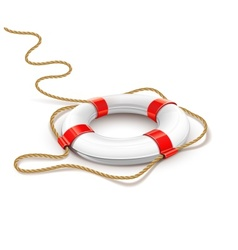 rescue ring for quick help vector image