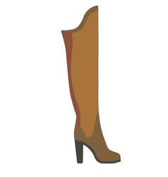 warm winter female boot made of suede on solid vector image vector image