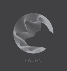 abstarct dog sign emblem or logo template vector image