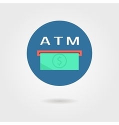 atm icon with shadow vector image vector image