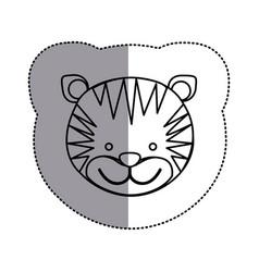 contour face tiger icon vector image