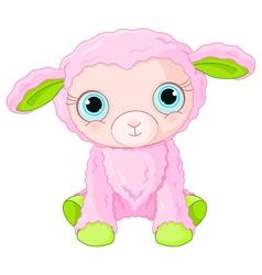 Cute lamb character vector image vector image