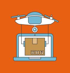 drone send correspondences vector image