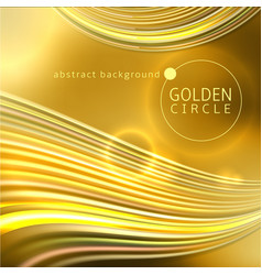 golden circle abstract background vector image vector image