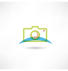 green camera icon vector image vector image