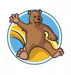 happy bear vector image vector image