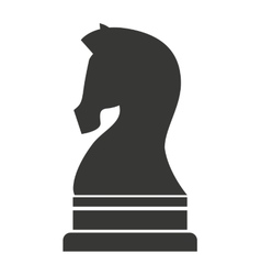 horse chess piece icon vector image