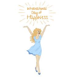 sketch of happy woman vector image vector image