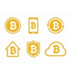 bitcoin logo Bitcoin icon bitcoin vector image vector image