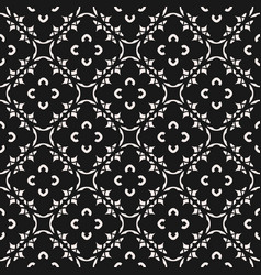 black white seamless pattern in oriental style vector image
