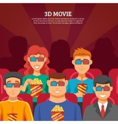 Cinema Viewers Design Concept vector image