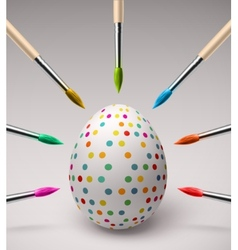 Coloring Easter eggs vector image vector image