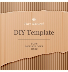 Diy template with cardboard texture background vector image vector image