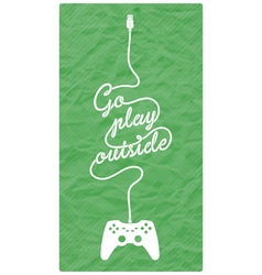Gamepad with Cable in the Shape of a Message vector image