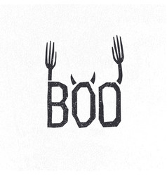 halloween logotype design halloween holiday sign vector image vector image