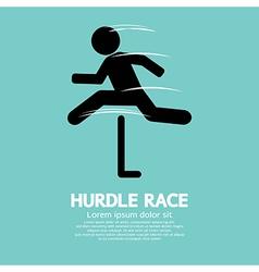 Hurdle Race vector image vector image