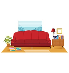 Office Couch Interior vector image