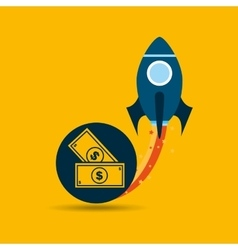 start up and business money dollar vector image