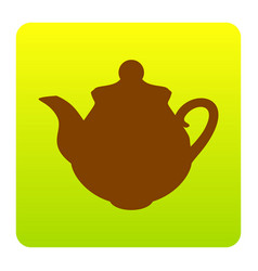 tea maker kitchen sign brown icon at vector image vector image
