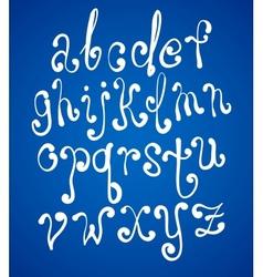 Art sketching set of font symbols vector image