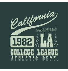 California T-shirt vector image vector image