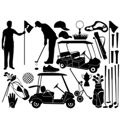 golf set vector image vector image