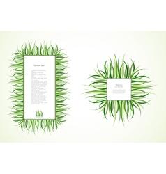Grass Frames vector image vector image
