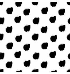 Hand drawn black dots seamless pattern vector image vector image