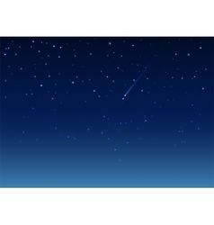 Shooting star in night sky vector image