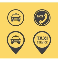Taxi icons and Pointers vector image