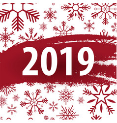 2019 happy new year background with snowflakes for vector image