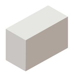 aerated concrete icon isometric 3d style vector image