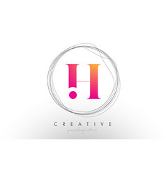 Artistic h letter logo design with creative vector