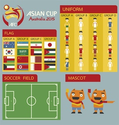 Asian cup australia 2015 vector image