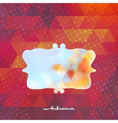 Autumn frame on hipster background EPS 10 vector image