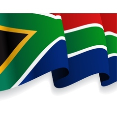 Background with waving South Africa Flag vector
