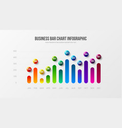 Business infographic presentation vector